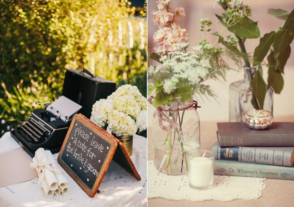 ¡Decora tu boda con libros!