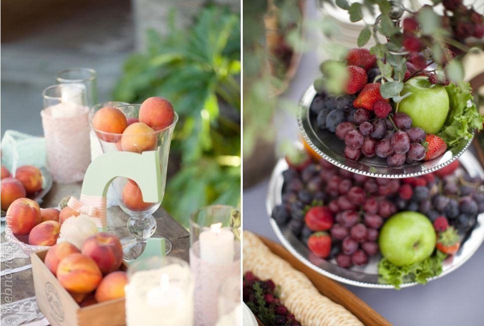 Frutas en la boda