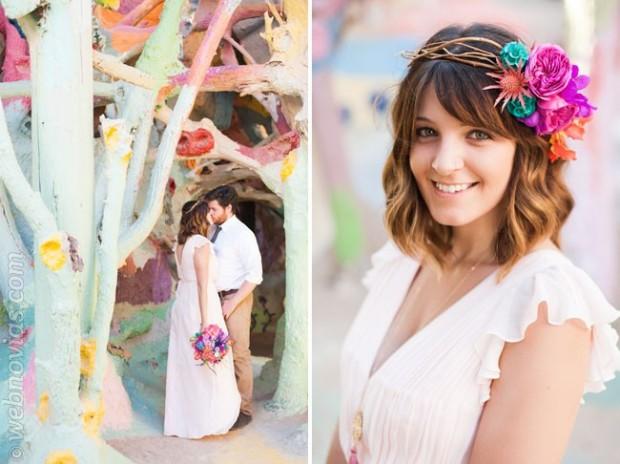 Peinados: Ideas para novias con flequillo