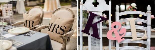 Carteles para las sillas de vuestra boda