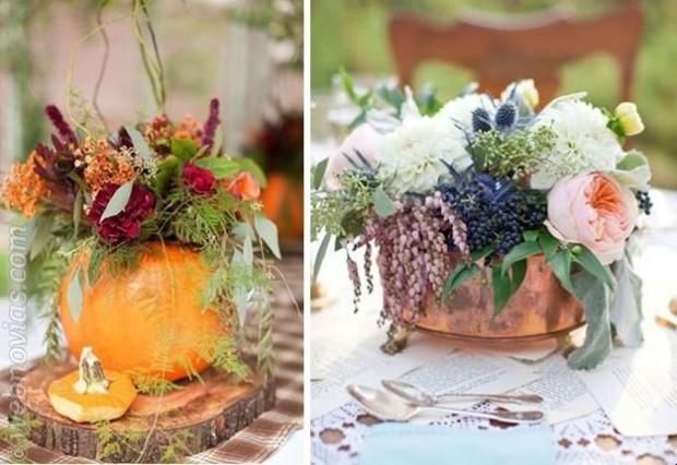 Centros de mesa especiales para otoño
