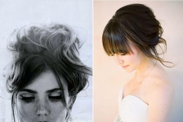 Peinados Para Novias Con Flequillo Webnovias Com