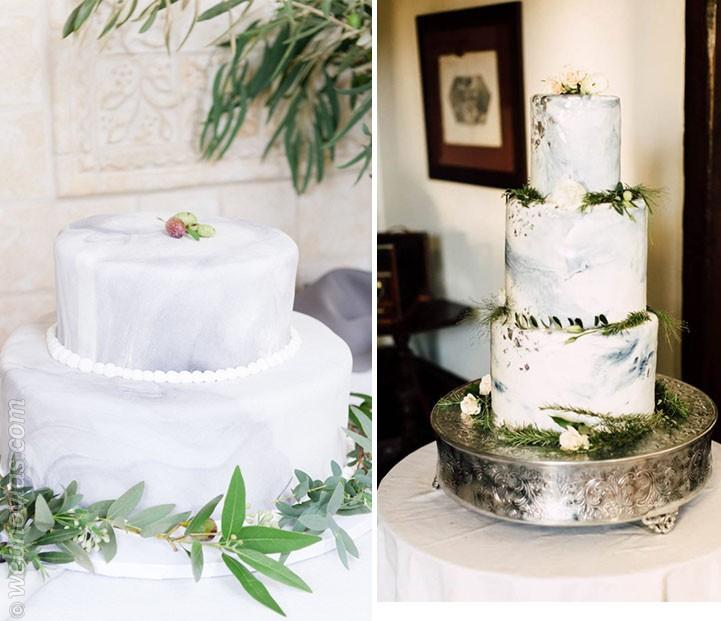 El efecto marmolado invade las tartas de boda