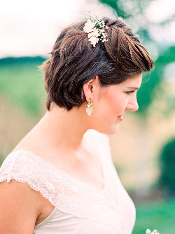 Peinados Para Novias Con El Pelo Corto Webnoviascom - Peinados-para-novias-pelo-corto