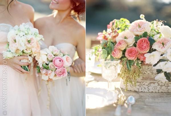 El color de las flores de la boda
