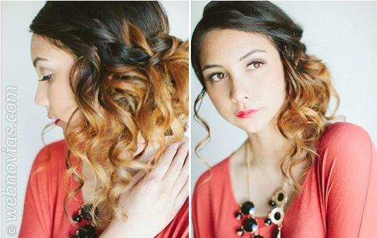Peinados Para Novias Con El Pelo Rizado Webnoviascom