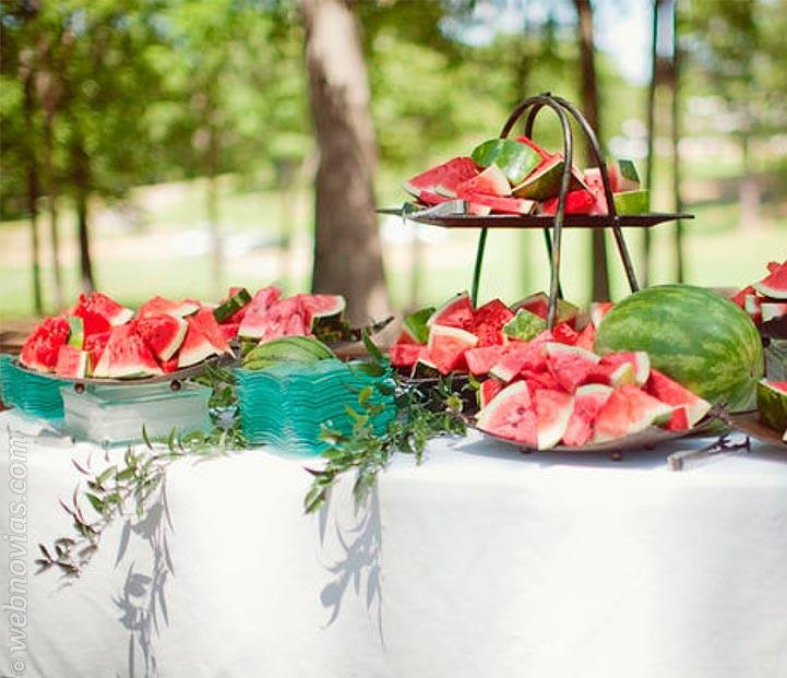 Top 5 bodas de verano: banquete refrescante