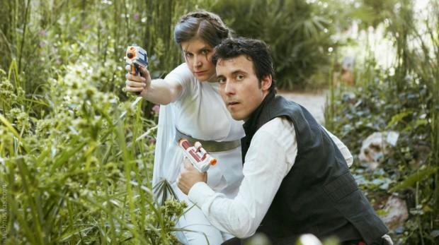 La sesión preboda más galáctica: Star Wars